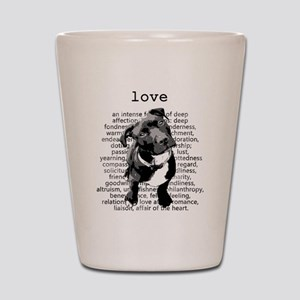 Pit Bull Love Shot Glass